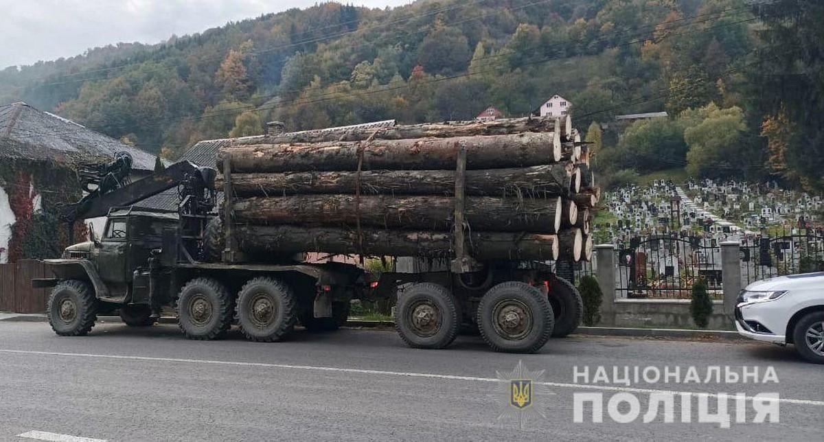 За дві доби на Закарпатті вилучили нелегальної деревини на майже пів мільйона гривень