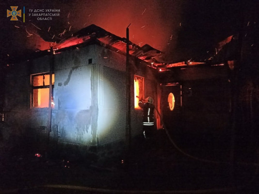 У селі на Мукачівщині вогонь знищив будинок