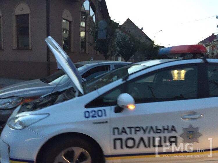 У Мукачеві трапилася ДТП за участі патрульних